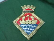 More details for royal navy whitby class frigate hms scarborough cast aluminium ships plaque