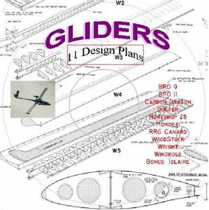 Glider Designs Plans, Data & More Eleven Models