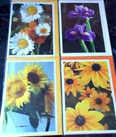 Packs of 7 Blank Cards by Hazel Burrows. 7 Flower Themes per pack.