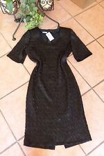 WILLI`S Damen Stretch Kleid Gr. 40 NEU schwarz ausgeprägter Crash SAHNESTÜCK!