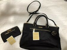 Micheal Kors Black Canvas Purse And Matching Wallet Preowned Nice