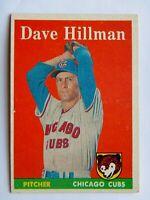 Dave Hillman #41 Topps 1958 Baseball Card (Chicago Cubs) G
