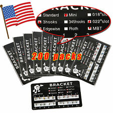200 Orthodontics Dental Metal Brackets Braces Mini MBT 022Slot 3Hooks ter-s