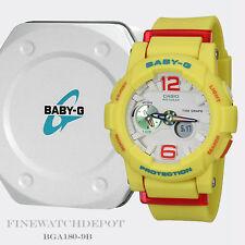 Authentic Casio Baby G-Shock Women's Yellow Digital Watch BGA180-9B