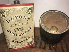 *Lot Of 2* -Dupont Paper Label, Gunpowder Tins, 1890's Antique Advertising!!!!*