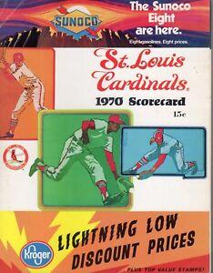 1970 Baseball program Philadelphia Phillies @ St. Louis Cardinals, unscored ~ VG