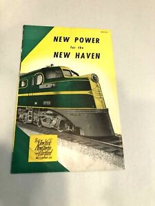 1941 New York, New Haven and Hartford Railroad brochure, NEW POWER