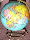 "CRAM'S Universal Terrestrial No. 3 Vintage Globe 12"" on 3-leg Stand RARE"