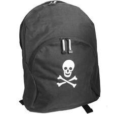 Black Backpack Rucksack daypack schoolbag School Bag Pack Skull Goth design