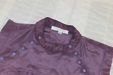 COREY LYNN CALTER Purple Ombre Blouse Size 6 100% Silk