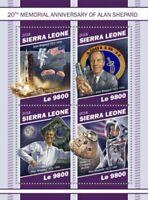 Sierra Leone - 2018 Alan Shepard - 4 Stamp Sheet - SRL181117a