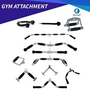 Premium Cable Attachment Tricep Rope Handle Push Pull Lat Row Bar Gym Accessory