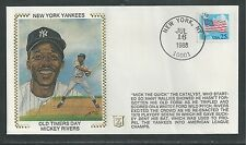 "NEW YORK YANKEES, OLD TIMERS DAY, MICKEY RIVERS, BASEBALL, SPORTS,""Silk"" Cachet"