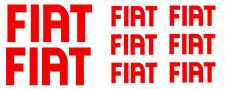 8 pegatinas de vinilo FIAT para moto,no 256