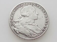 1755 BAVARIA / GERMAN STATES MADONNENTALER .900 SILVER LARGE THALER COIN KM#500