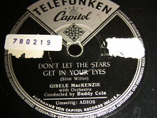 6/4R Gisele MacKenzie - Adios - Don't Let the Stars get in your eyes