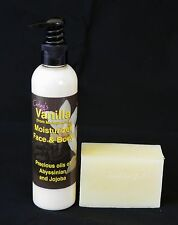 VANILLA moisturizer. Scent and Feel are wonderful. Finest Madagascar Vanilla