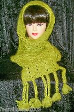 Handgestrickt écharpe Fuzzy scarf 85% mohair Hand Knitted
