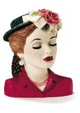 "Cameo Girls Head Vase Eve 1948 ""Tea Party"" MIB FREE SHIPPING"