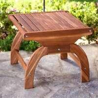 Teak Oiled Plantation Adirondack Outdoor Side End Table - New!