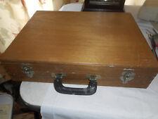 Vintage Ideal Portable Artist Sketch Box Painting Wood Box w Contents Palette