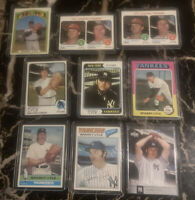 Topps Sparky Lyle (9) Card Lot 1972, 1973, 1974, 1975, 1976, 1977, 2004  Yankees