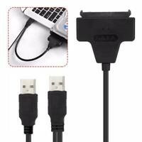 """SATA 7+15 Pin 22Pin to USB 2.0 Adapter Cable for PC 2.5"""" HDD Hard Disk Drive"""