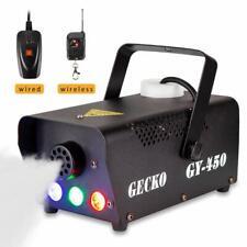 Fog Machine,GECKO Smoke Machine hood portable LED light with wired and wireless