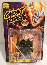 Ghost Rider w Flame Glow In The Dark Feature Marvel Toy Biz Figure MOC NM