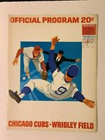 1974 Chicago Cubs vs Philadelphia Phillies Opening Day Program w/Ticket Stub GD