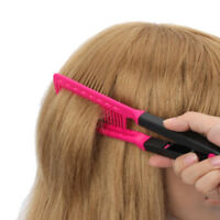 Women Hot V-Shape DIY Salon Hair Straightener Hair Comb Hairdressing Beauty Use