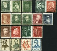 GERMANY Semi-Postal Deutsche Bundespost Stamps Collection 1951-55 Mint LH Used