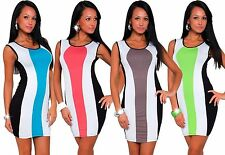 Women's Crew Neck Viscose Clubwear Stretch, Bodycon Dresses