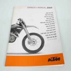 Manual De Usuario Propietario origine Moto KTM 450 Xc-W 2009 3211355EN