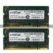 2GB 2x1GB DDR PC3200S SO-DIMM 200Pin PC3200 DDR1 400MHz Laptop Sodimm Memory Ram