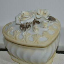 Bomboniere per  Matrimonio da Nozze Cresima Comunione scatoline ceramica fiore a