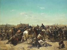 PITTURA MILITARE Schreyer ottomano Encampment art print poster LF667