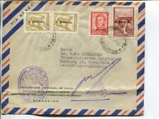 Argentina official stamps on air mail cover to Germany 1962