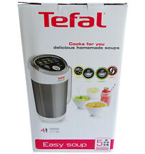 Tefal BL841140 Easy Soup and Smoothie Maker, Stainless Steel, White