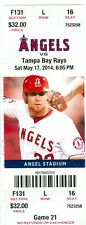 2014 Angels vs Rays Ticket:  C.J. Wilson completegame shut-out/Grant Green HR
