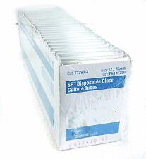 Cardinal Health T1290-3 Borosilicate Glass SP Disposable Culture Tubes 12x75mm