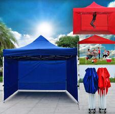 Heavy Duty 3m x 3m Gazebo Marquee Tent with 3 Bonus Side Walls (Blue or Red)