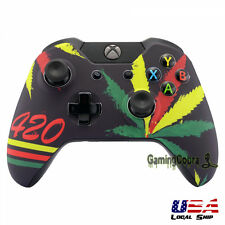 Game Green Weeds Front Shell Customized Repair Faceplate for Xbox One Controller
