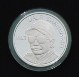 DALE EARNHARDT NASCAR 7 TIME CHAMPION 1995 ENVIROMINT COIN 999 FINE SILVER ROUND