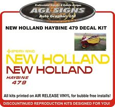 SPERRY  NEW HOLLAND  HAYBINE  479  Reproduction decal kit  rand