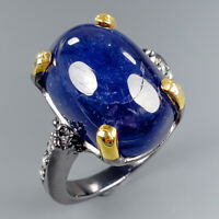 Women Jewelry Natural Blue Sapphire 925 Sterling Silver Ring Size 8/R114985