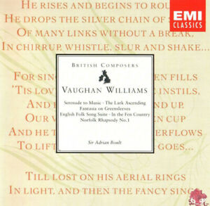 Ralph Vaughan Williams : Serenade to Music CD (1991) FREE Shipping, Save £s