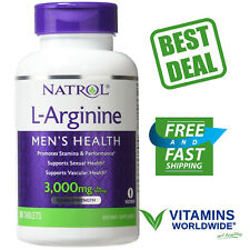 Natrol, L-Arginine, 3000 mg, Supports Sexual Health,  Erectile Function, 90 Tabs