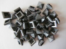 Lego 40 pirámides-azulejos 22388 en plata/Silver metallic 1x1x2/3 mercancía nueva