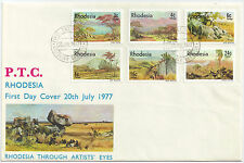 Rhodesia  1977 Through Artists' Eyes FDC.